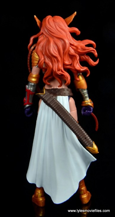 Marvel Legends Angela figure review -rear side